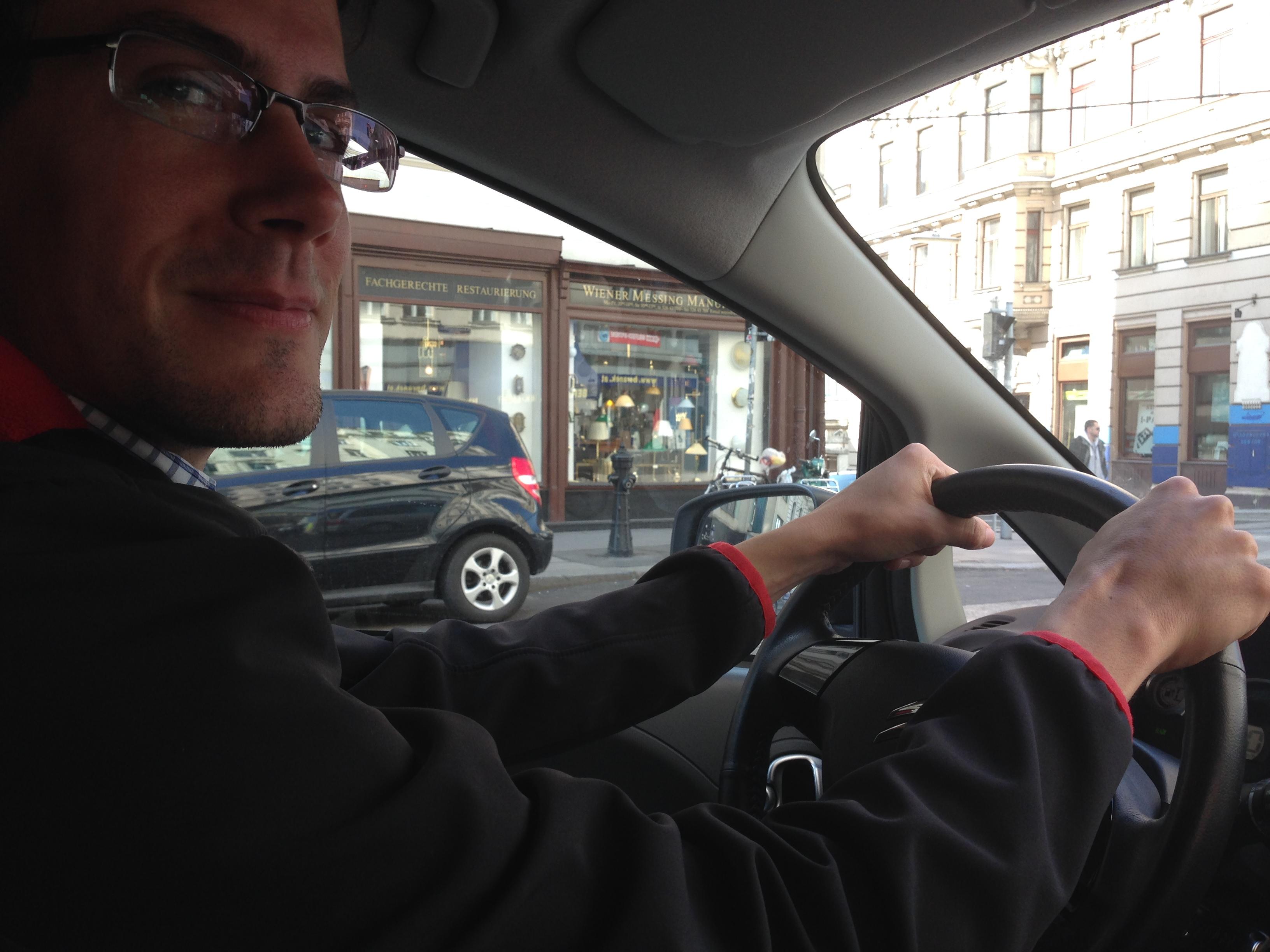 ich im auto